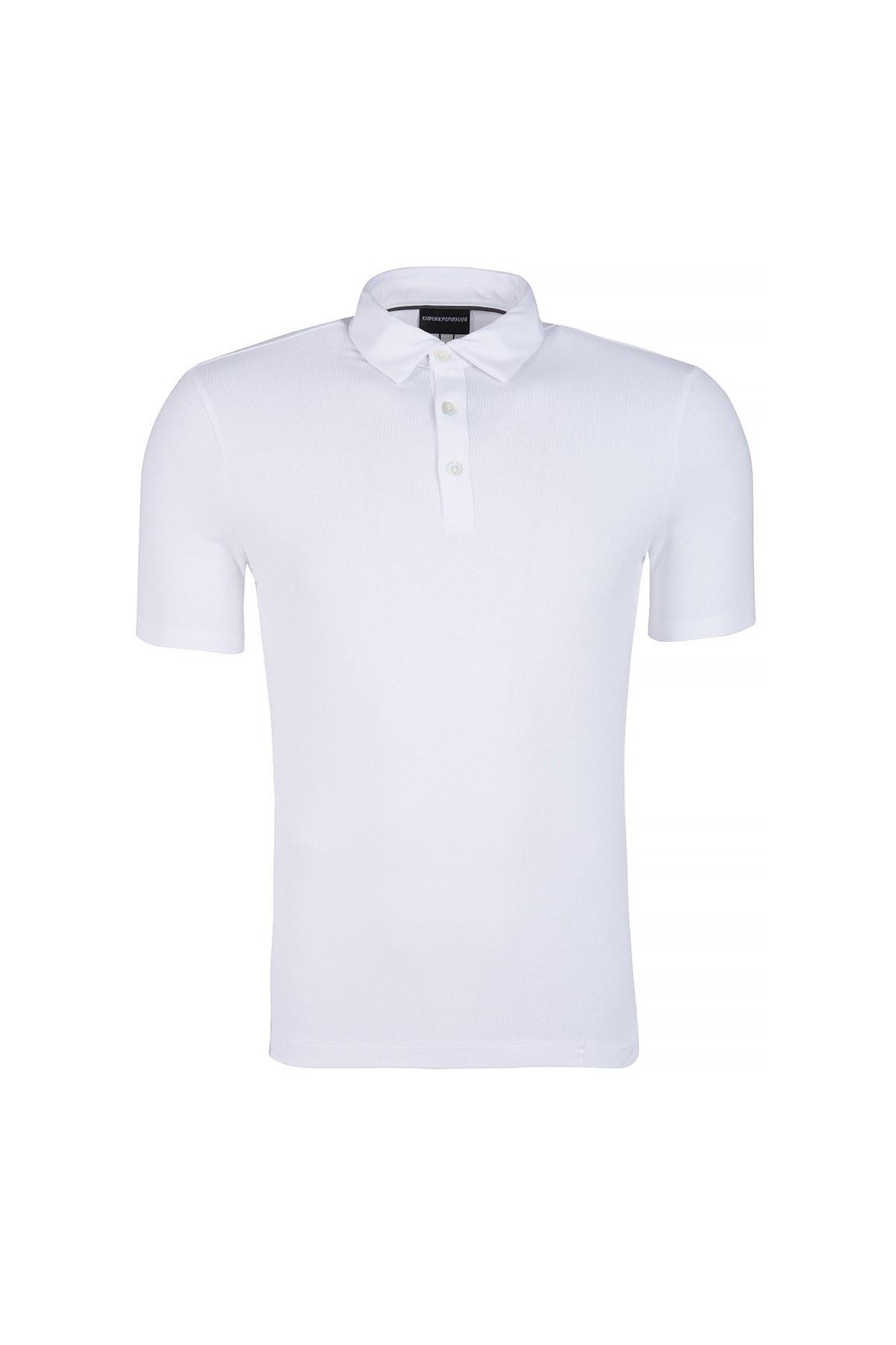 EMPORIO ARMANI T SHIRT Erkek T Shirt 8N1F8C 1JCDZ BEYAZ
