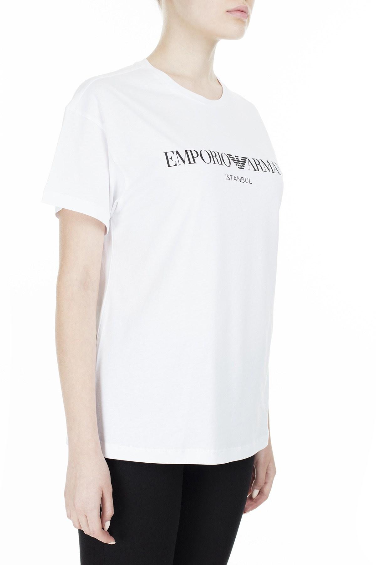 EMPORIO ARMANI T SHIRT Kadın T Shirt 3Z2T7Q 2JO4Z S121 BEYAZ