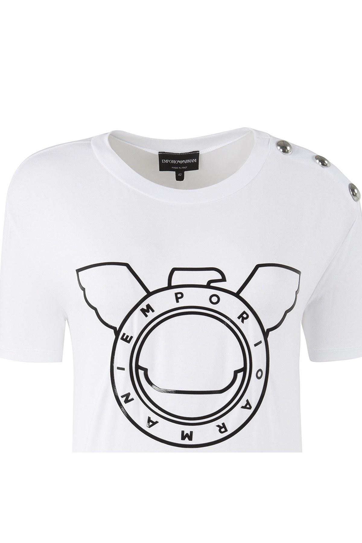 EMPORIO ARMANI T SHIRT Bayan T Shirt 6Z2T7S 2J9ZZ 0100 BEYAZ