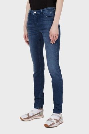 Emporio Armani - Emporio Armani Yüksek Bel Pamuklu J23 Jeans Bayan Kot Pantolon 3K2J23 2DD9Z 0941 LACİVERT