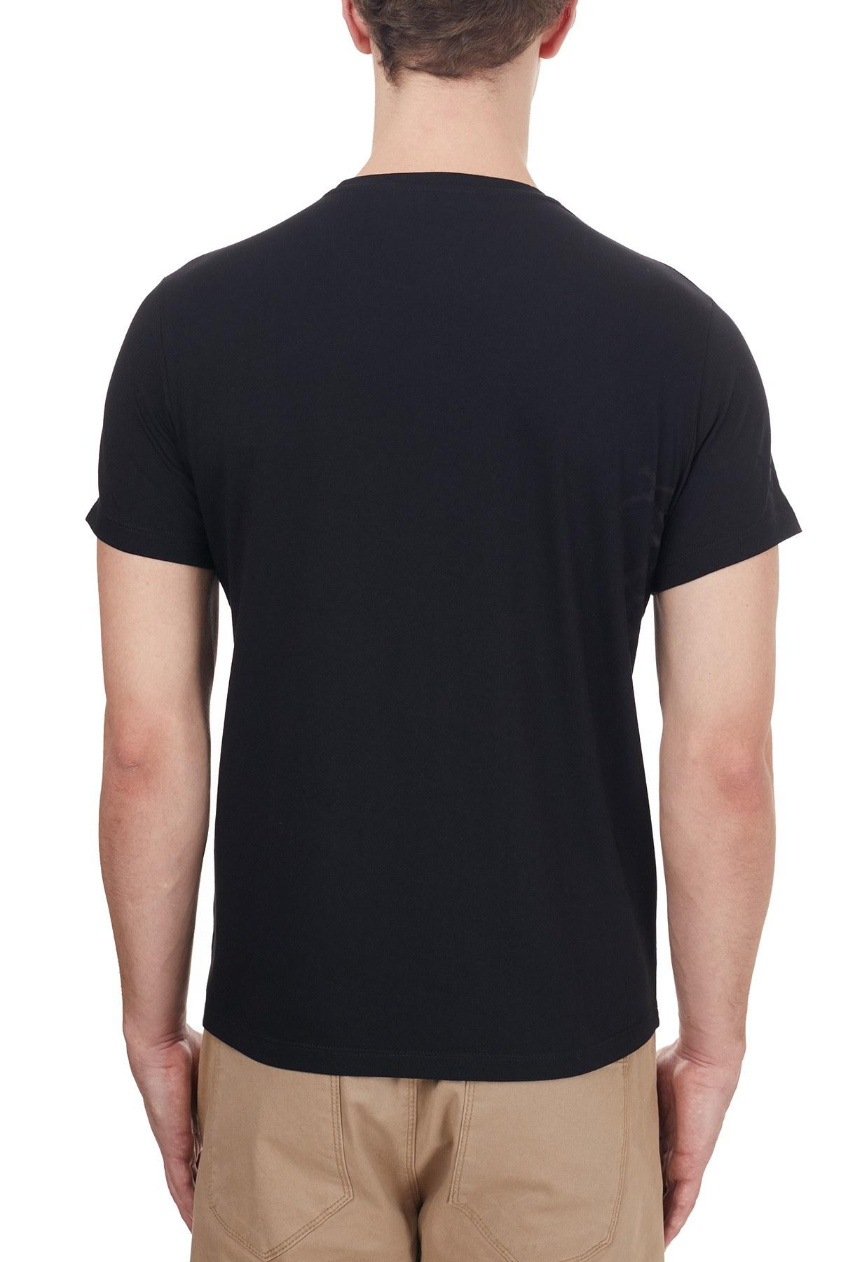 Etro % 100 Pamuklu Baskılı Bisiklet Yaka Erkek T Shirt 1Y020 97580 001 SİYAH