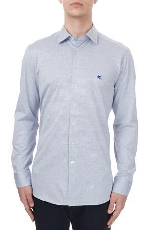 Etro - Etro % 100 Pamuklu Regular Fit Uzun Kollu Erkek Gömlek 1k526 3129 0250 MAVİ