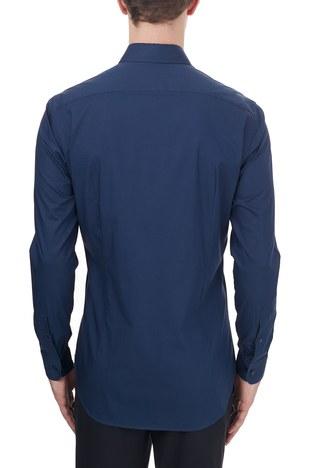 Etro - Etro Pamuklu Düğmeli Yaka Slim Fit Erkek Gömlek 1K964 3400 0200 LACİVERT (1)