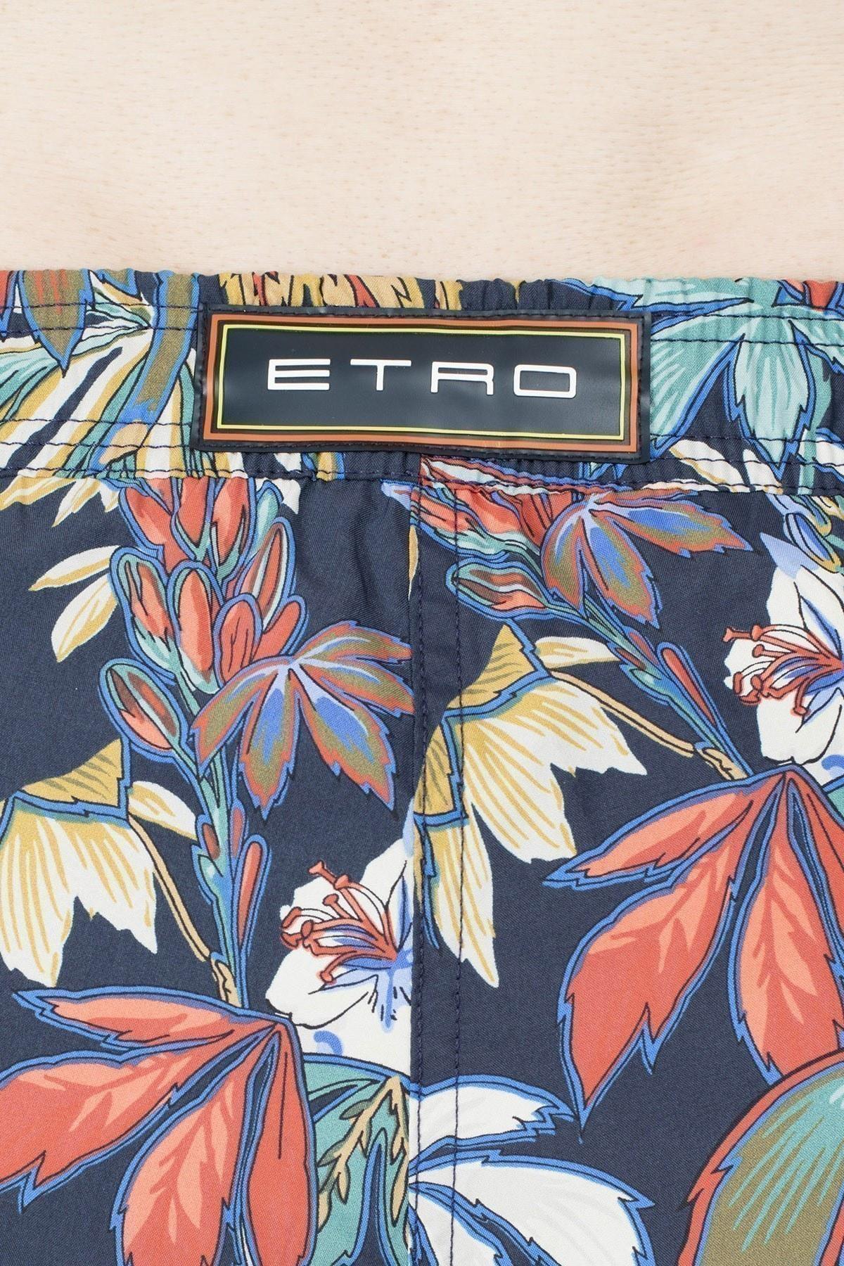 Etro Regular Fit Erkek Mayo Short 1B100 4125 200 LACİVERT