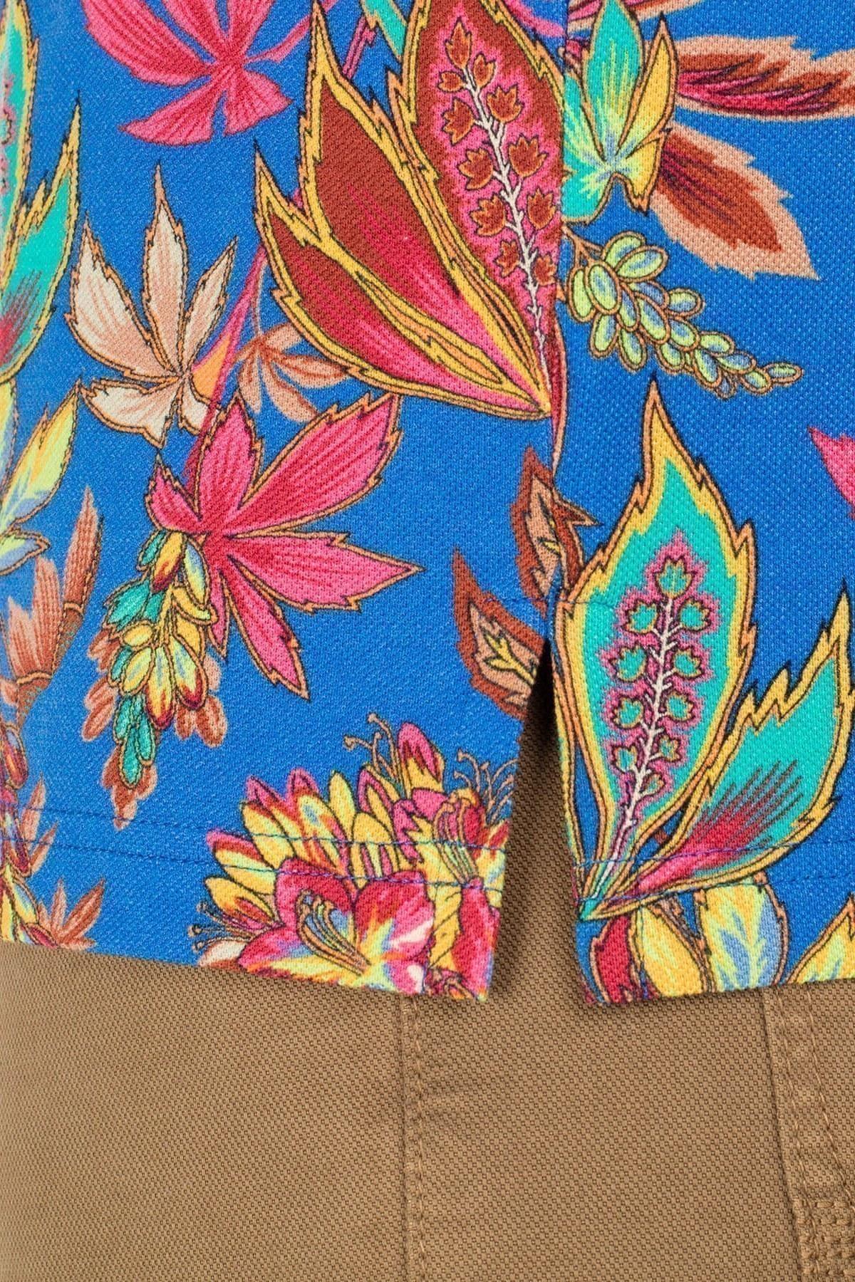 Etro Regular Fit T Shirt Erkek Polo 1Y800 4062 200 SAKS