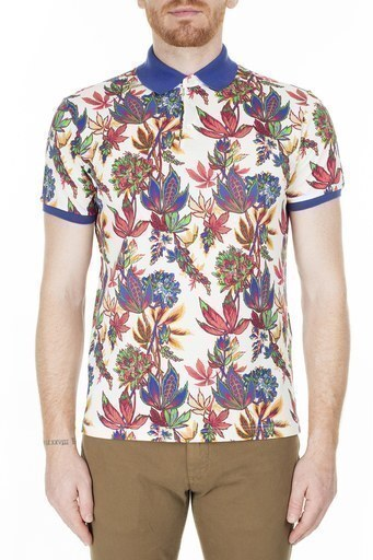 Etro Regular Fit T Shirt Erkek Polo 1Y800 4062 990 BEYAZ