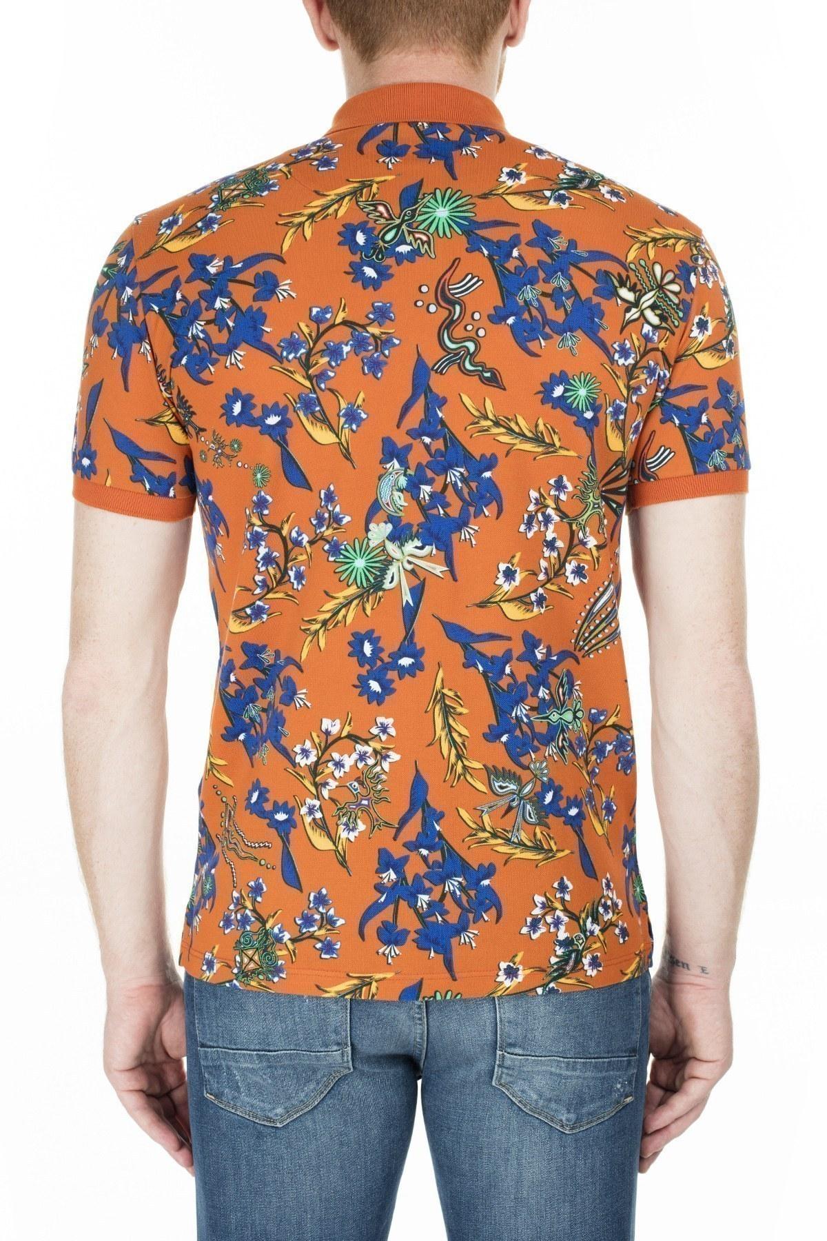 Etro Regular Fit T Shirt Erkek Polo 1Y800 4065 750 KİREMİT