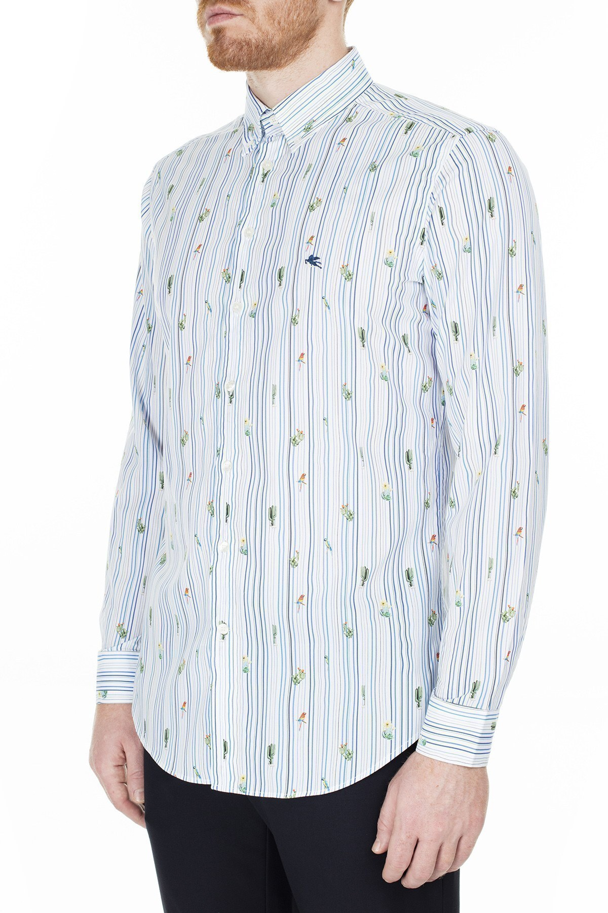 Etro Slim Fit Erkek Gömlek 1K964 6250 990 BEYAZ