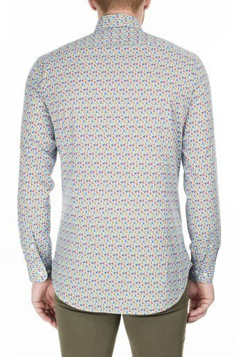 Etro Slim Fit Erkek Gömlek 1K964 6251 250 MAVİ