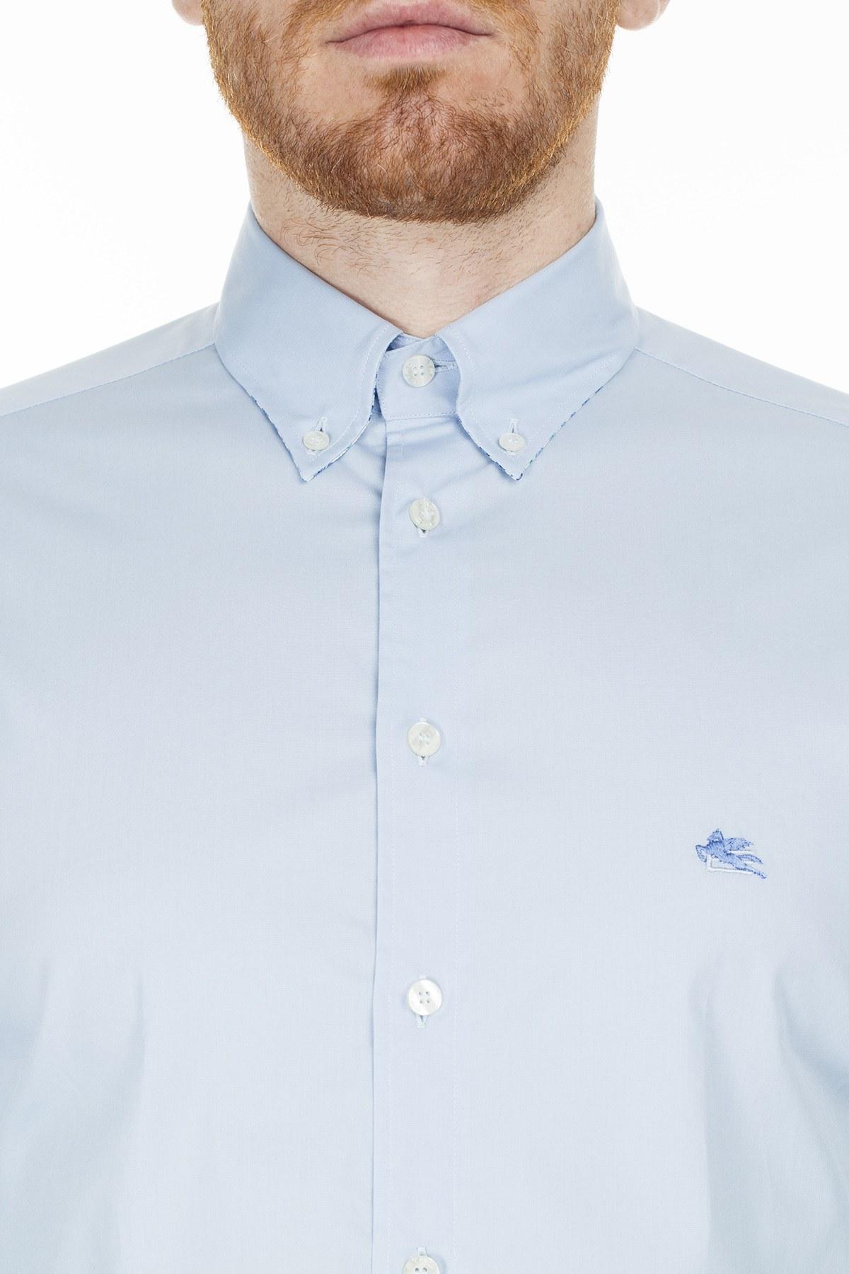 Etro Slim Fit Erkek Gömlek 1K964 6400 250 MAVİ