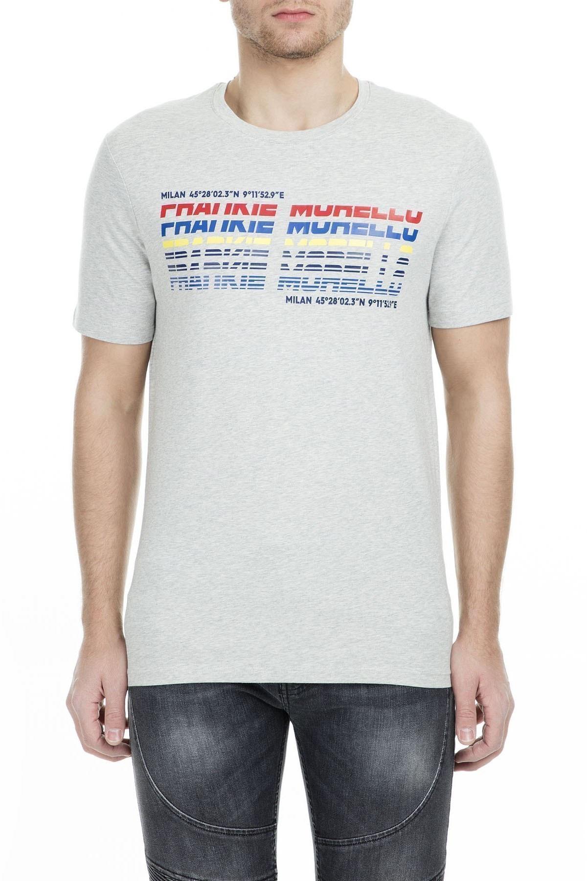Frankie Morello Erkek T Shirt FMCS9052TS G05 GRİ