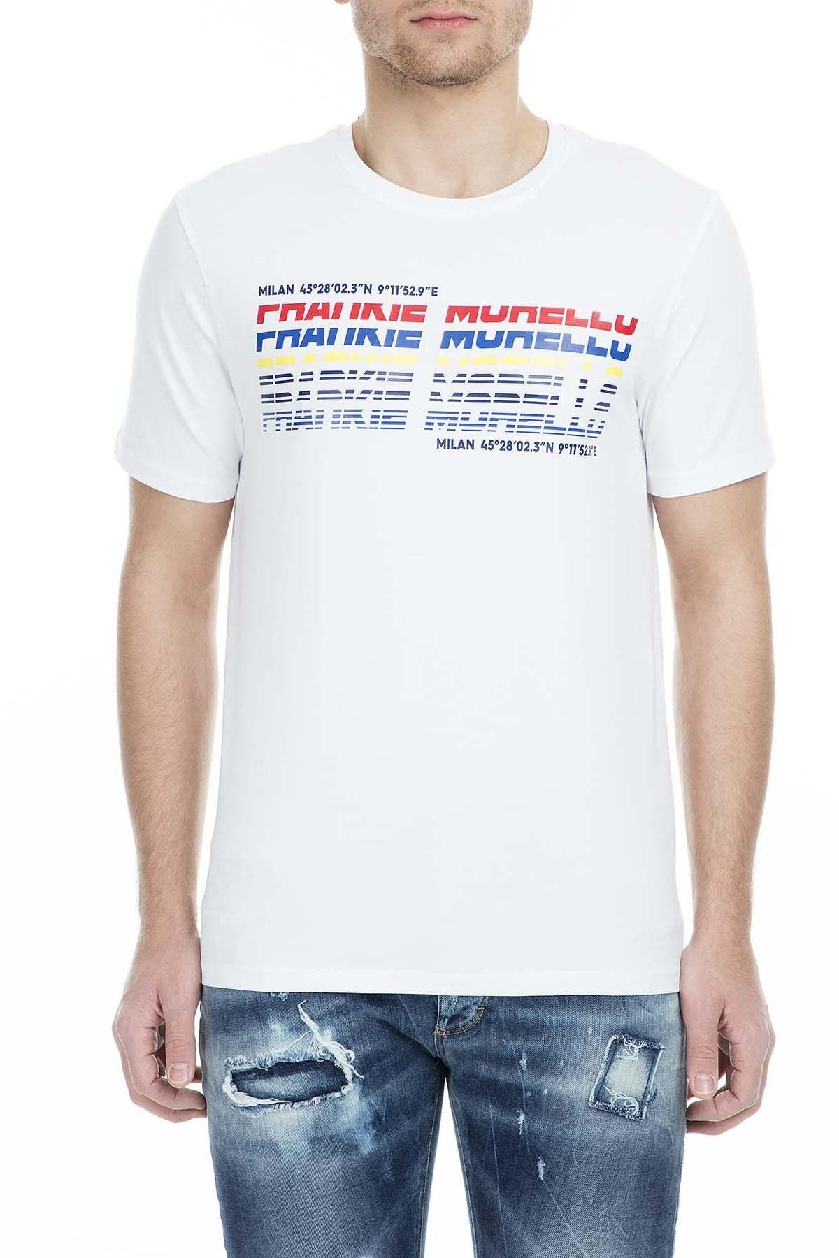 Frankie Morello Erkek T Shirt FMCS9052TS W02 BEYAZ
