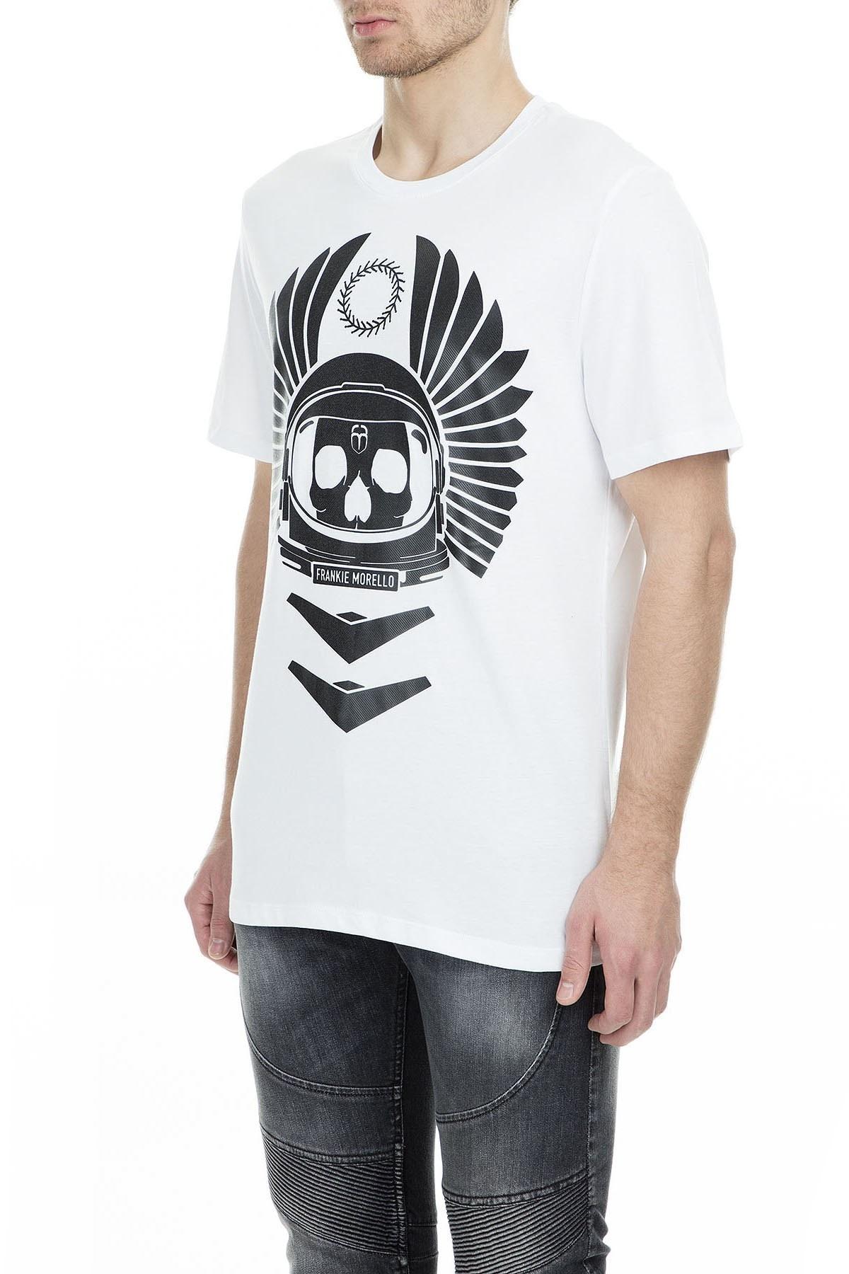 Frankie Morello Erkek T Shirt FMCS9135TS W02 BEYAZ