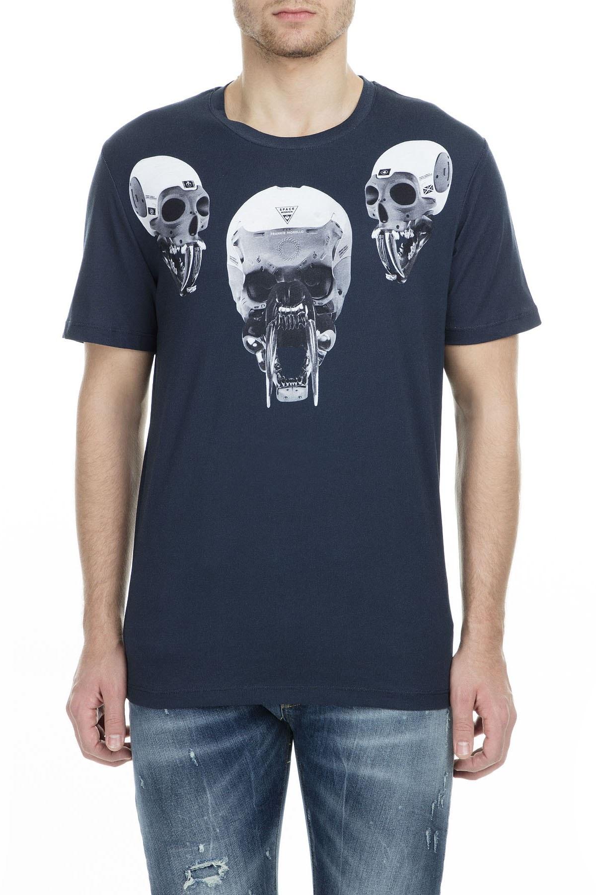 Frankie Morello Erkek T Shirt FMCS9148TS B01 LACİVERT
