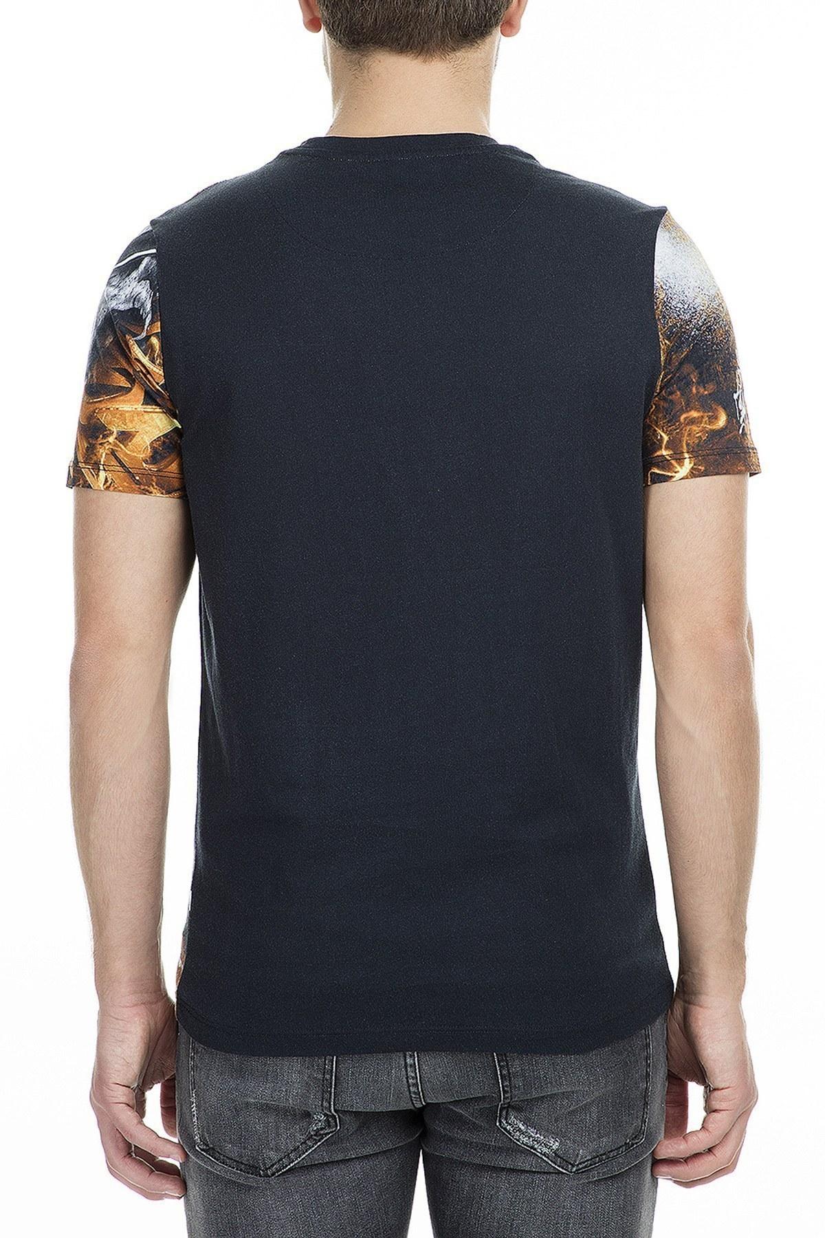 Frankie Morello Erkek T Shirt FMMS9019TS N01 SİYAH