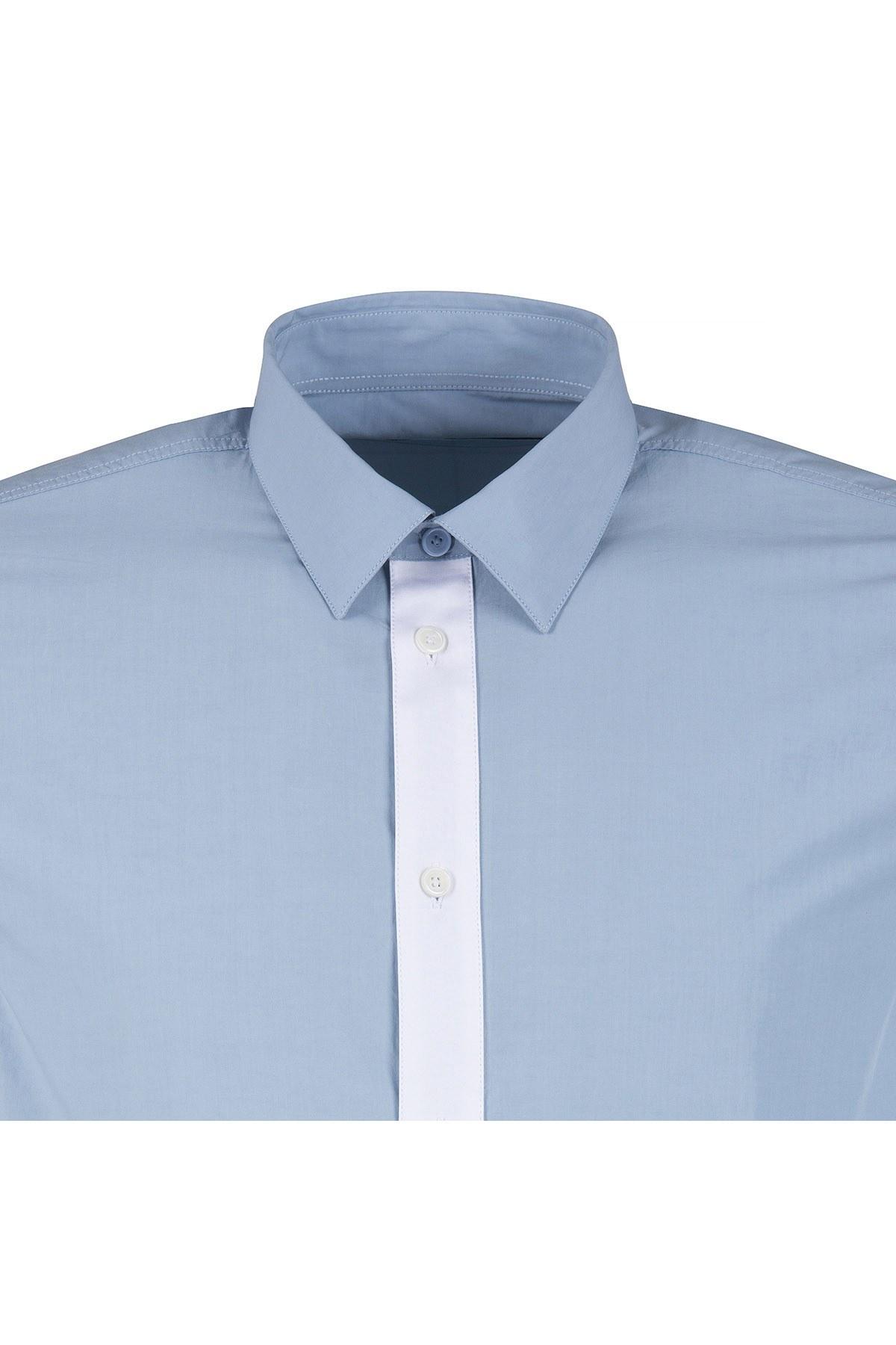 GIVENCHY Erkek Gömlek BM603A109G 452 MAVİ