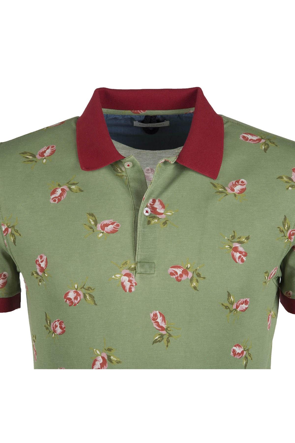 GRAN SASSO T SHIRT Erkek T Shirt 6016366801470 YEŞİL