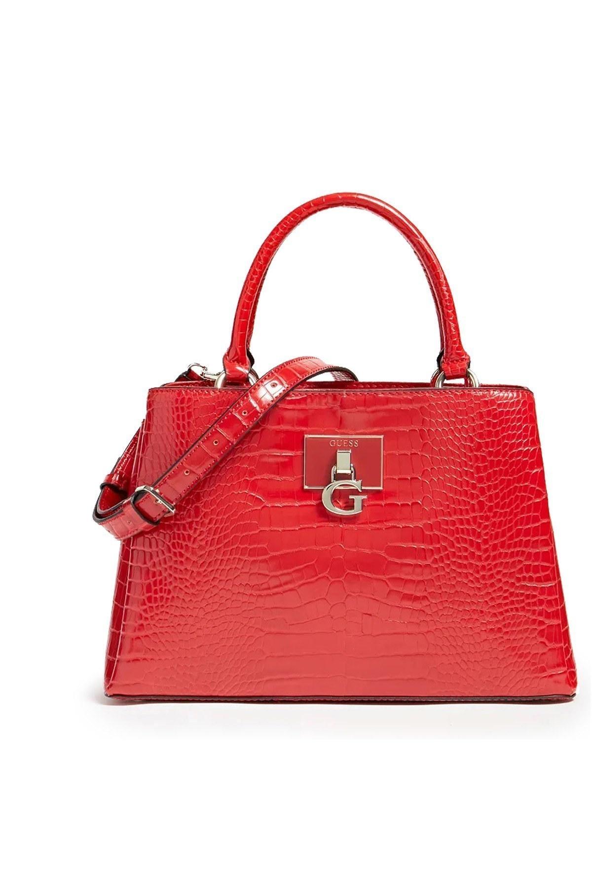 Guess Çıkarılabilir ve Ayarlanabilir Askı Detaylı Marka Logolu Carabel Bayan Çanta HWCG7972060 RED KIRMIZI