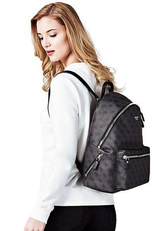 Guess - Guess Leeza Backpack Kadın Çanta HWSC4557320 COA KOYU GRİ (1)
