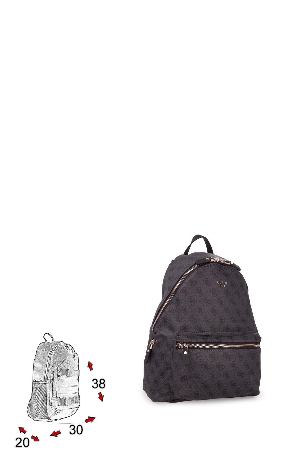 Guess Leeza Backpack Kadın Çanta HWSC4557320 COA KOYU GRİ