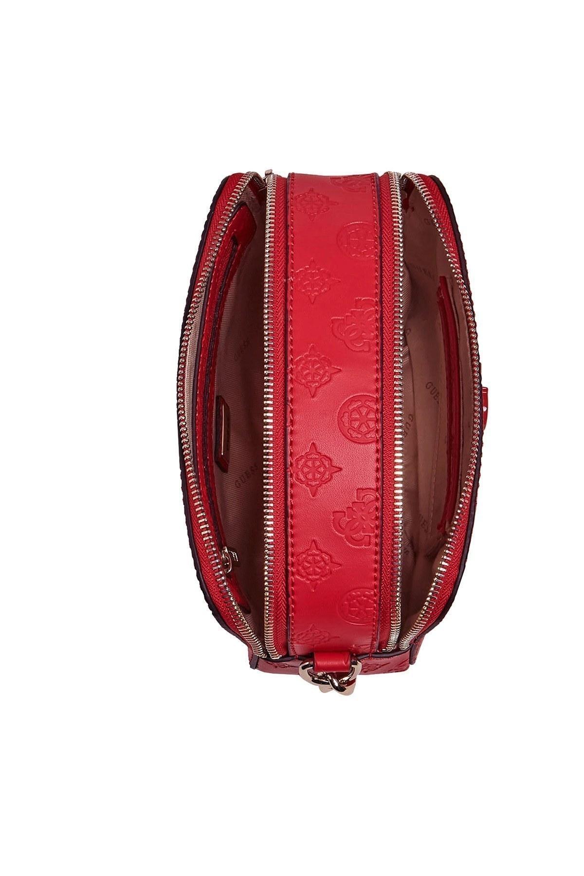 Guess Zircir Askı Detaylı Marka Logolu Noelle Bayan Çanta HWPD7879140 RED KIRMIZI