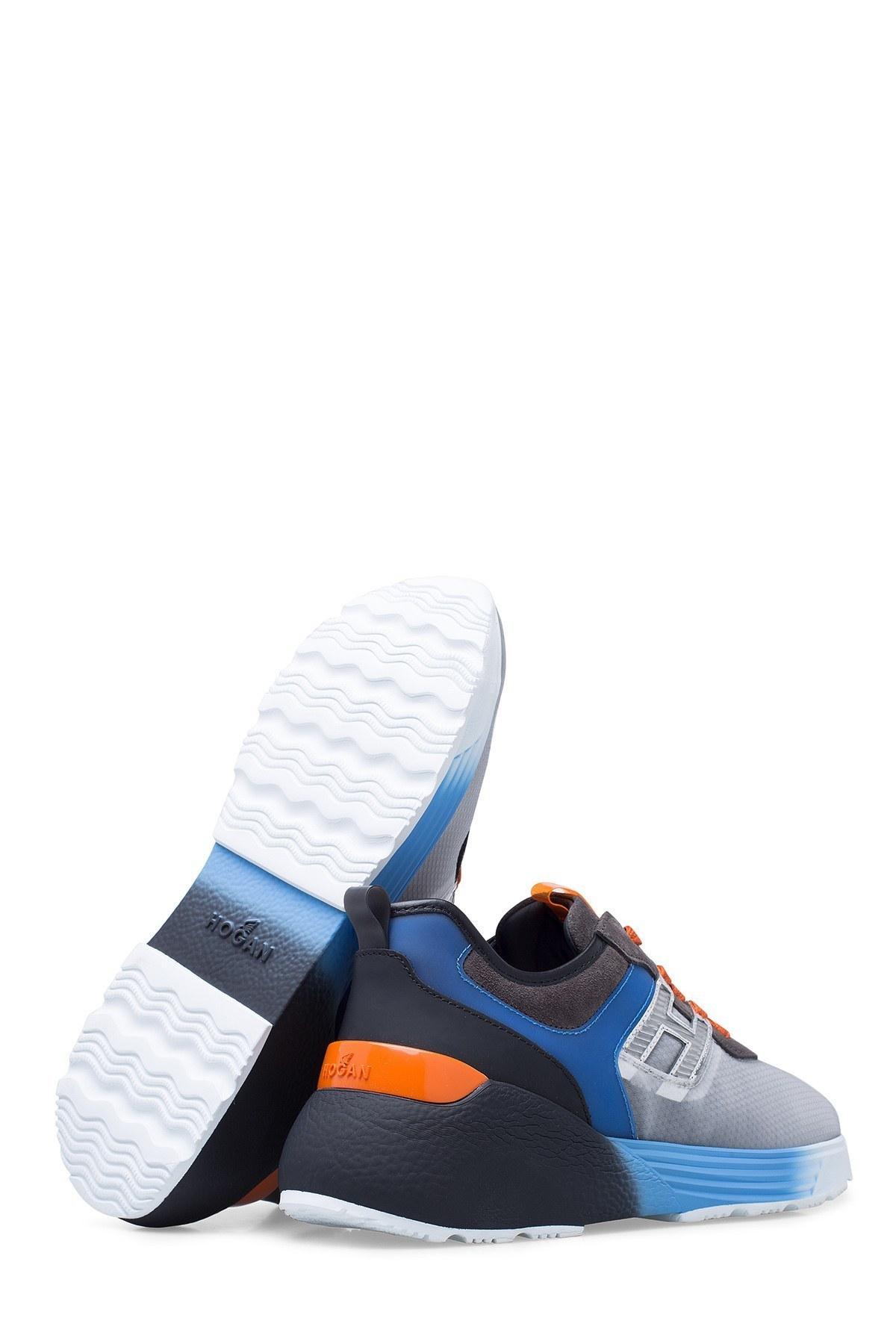 Hogan Erkek Ayakkabı HXM4580BU70L9W684M GRİ-SİYAH