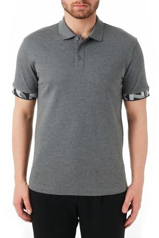 Hugo Boss - Hugo Boss % 100 Pamuklu T Shirt Erkek Polo 50448741 030 GRİ