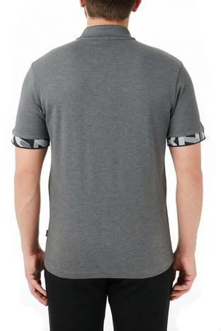 Hugo Boss - Hugo Boss % 100 Pamuklu T Shirt Erkek Polo 50448741 030 GRİ (1)