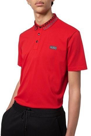 Hugo Boss - Hugo Boss % 100 Pamuklu T Shirt Erkek Polo 50448861 693 KIRMIZI