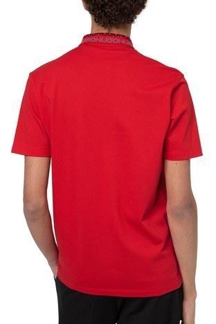 Hugo Boss - Hugo Boss % 100 Pamuklu T Shirt Erkek Polo 50448861 693 KIRMIZI (1)