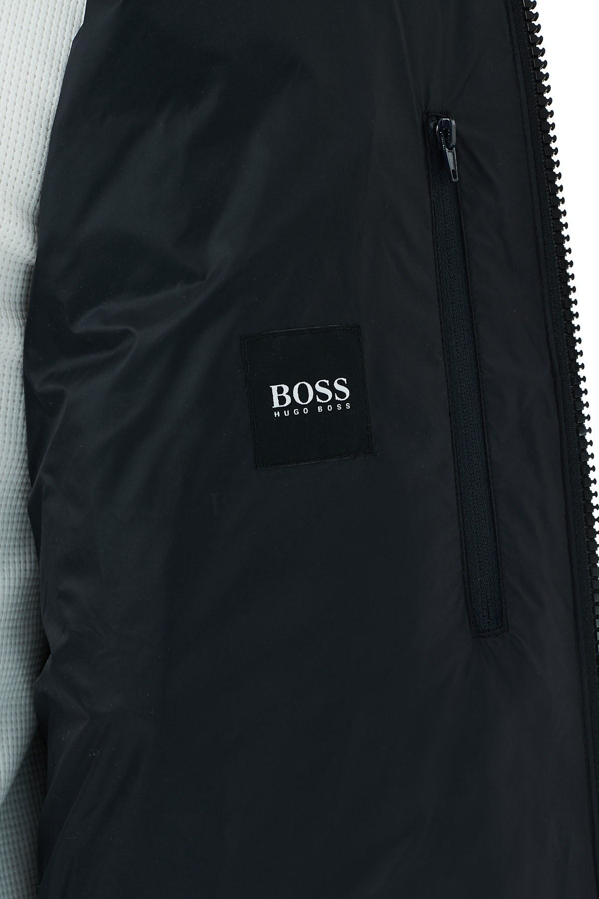 Hugo Boss Dik Yaka Cepli Şişme Erkek Mont 50436512 001 SİYAH