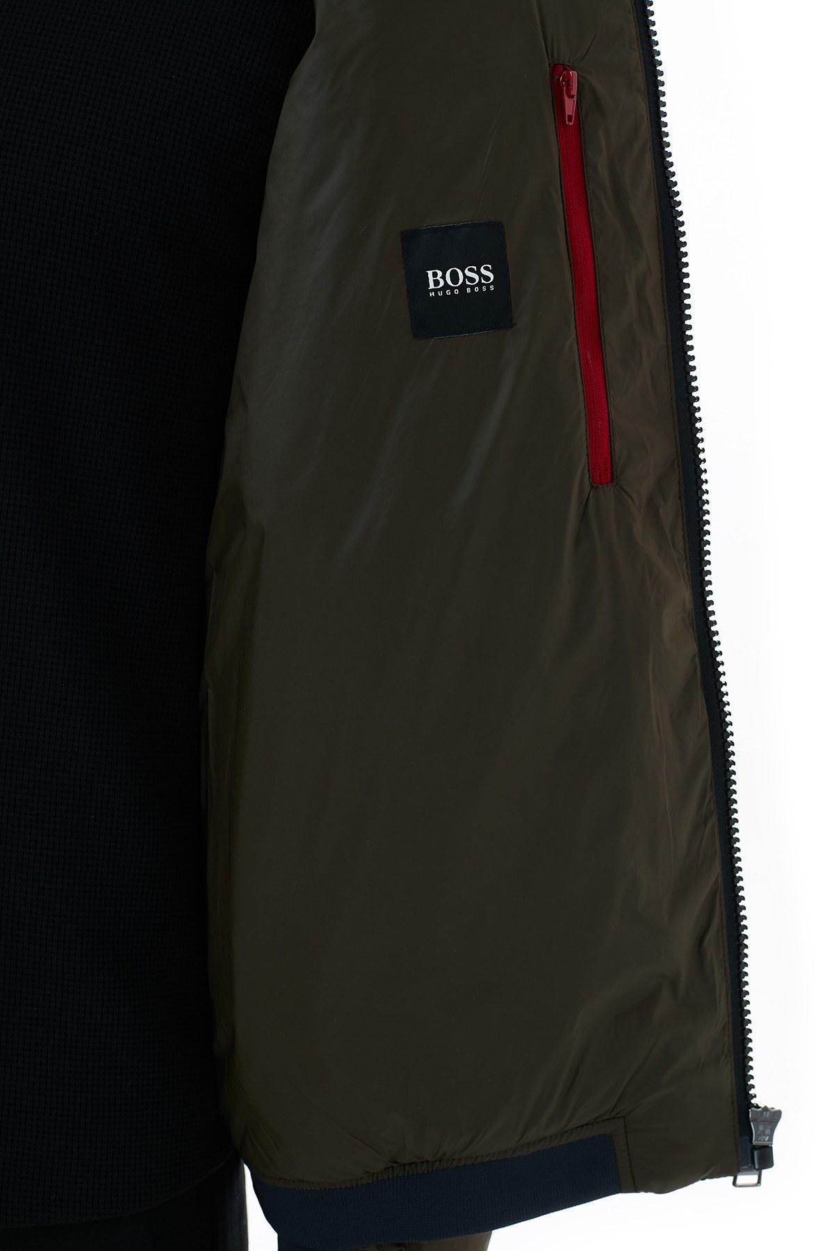 Hugo Boss Dik Yaka Cepli Şişme Erkek Mont 50436512 342 HAKİ