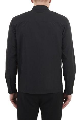 Hugo Boss - Hugo Boss Düz Yaka Fermuarlı Erkek Gömlek 50454745 001 SİYAH (1)