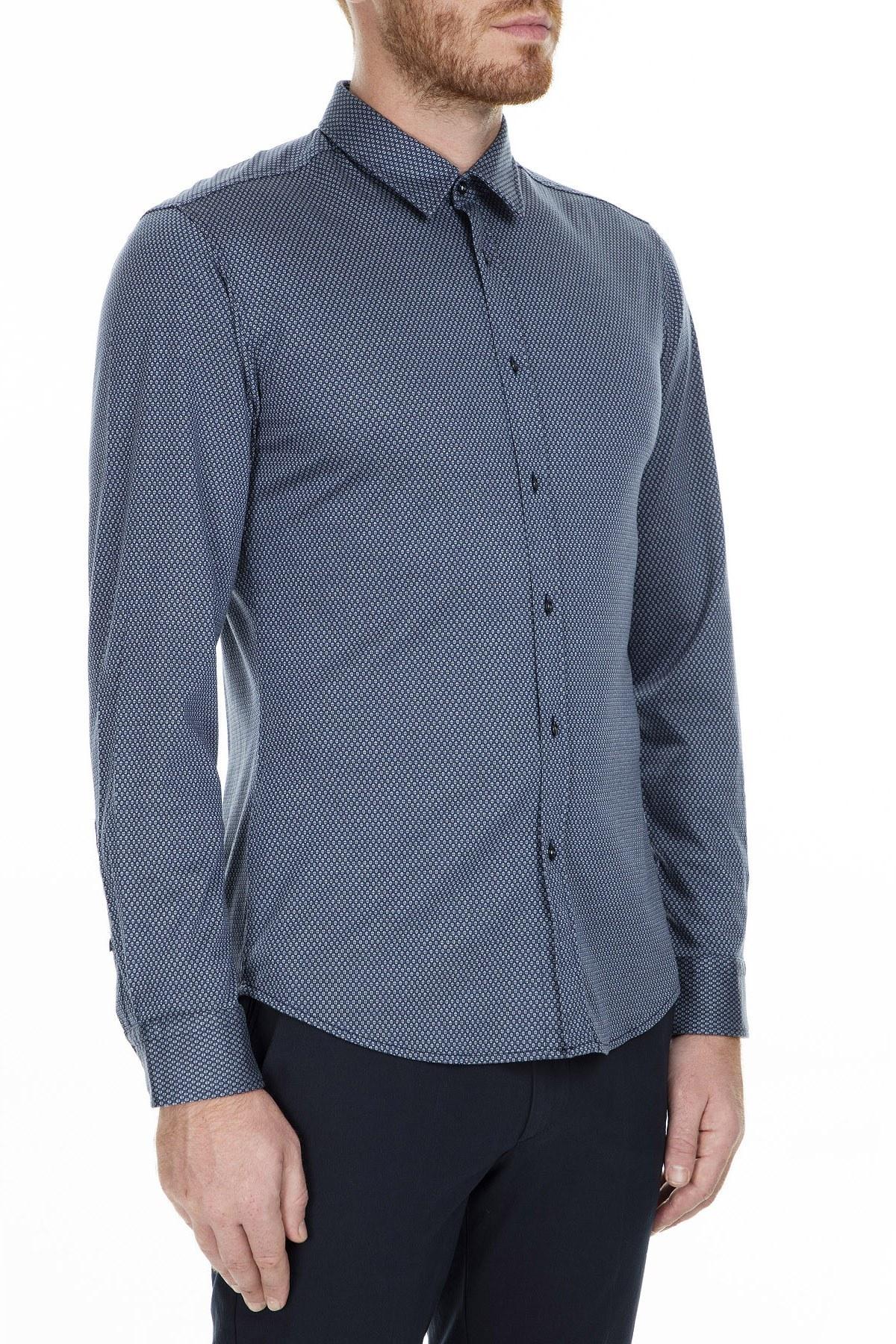 Hugo Boss Erkek Gömlek 50415397 453 LACİVERT