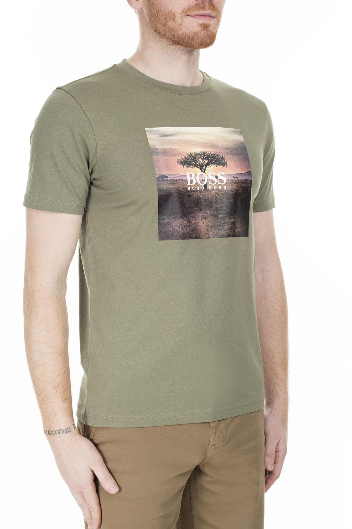 Hugo Boss Erkek T Shirt 50427897 349 HAKİ