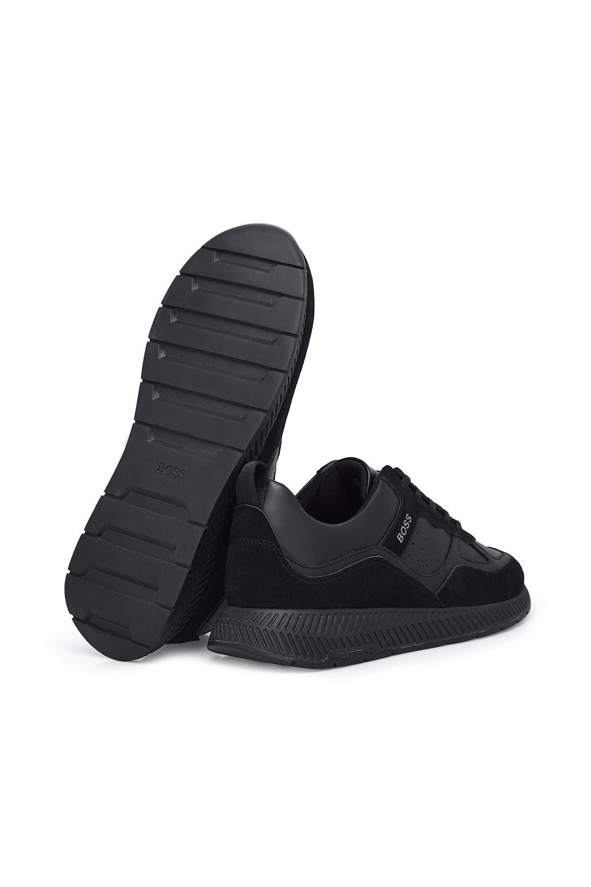 Hugo Boss Hakiki Deri Erkek Ayakkabı 50440763 001 SİYAH