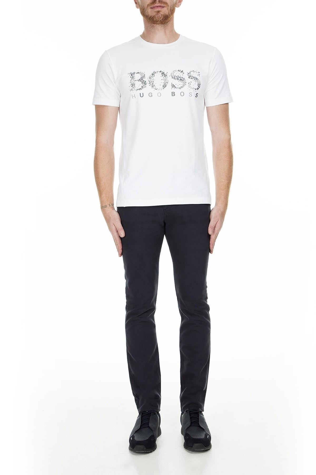 Hugo Boss Jeans Erkek Pamuklu Pantolon 50415317 402 LACİVERT