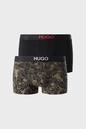 Hugo Boss Pamuklu 2 Pack Erkek Boxer 50454316 355 HAKİ-SİYAH