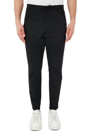 Hugo Boss - Hugo Boss Pamuklu Belden Bağlamalı Regular Fit Erkek Pantolon 50447740 001 SİYAH (1)