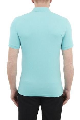 Hugo Boss - Hugo Boss Pamuklu Düğmeli T Shirt Erkek Polo 50378334 444 TURKUAZ (1)