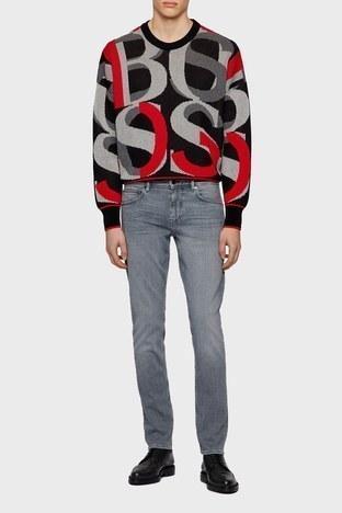 Hugo Boss - Hugo Boss Pamuklu Extra Slim Fit Düşük Bel Erkek Pantolon 50446268 052 GRİ