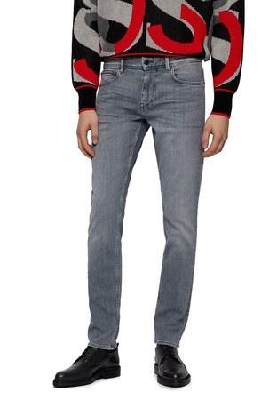 Hugo Boss - Hugo Boss Pamuklu Extra Slim Fit Düşük Bel Erkek Pantolon 50446268 052 GRİ (1)