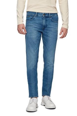Hugo Boss - Hugo Boss Pamuklu Extra Slim Fit Jeans Erkek Kot Pantolon 50449628 433 LACİVERT (1)