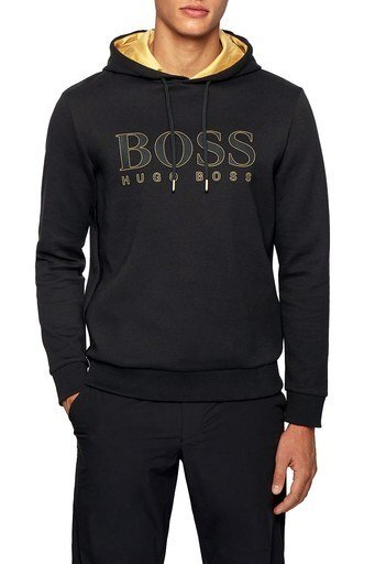 Hugo Boss Pamuklu Kapüşonlu Erkek Sweat 50451214 001 SİYAH
