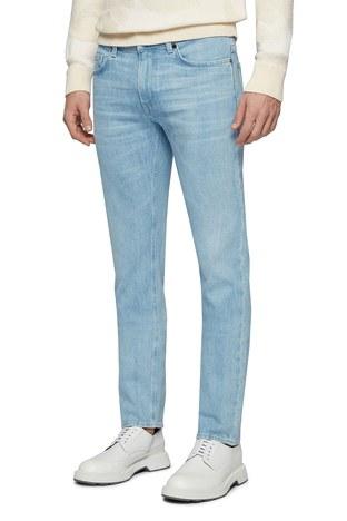 Hugo Boss - Hugo Boss Pamuklu Slim Fit Jeans Erkek Kot Pantolon 50449629 444 AÇIK MAVİ (1)