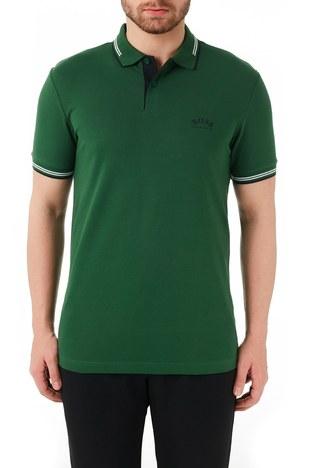 Hugo Boss - Hugo Boss Pamuklu Slim Fit T Shirt Erkek Polo 50412675 308 YEŞİL