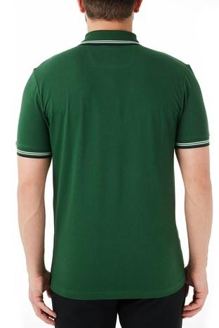 Hugo Boss - Hugo Boss Pamuklu Slim Fit T Shirt Erkek Polo 50412675 308 YEŞİL (1)