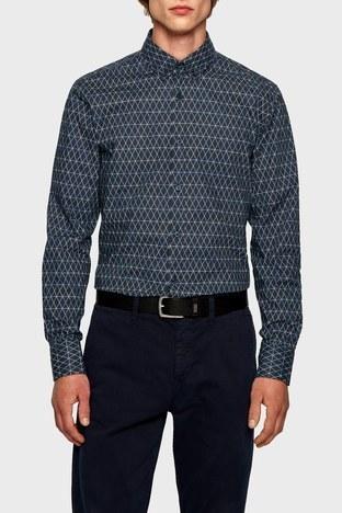 Hugo Boss - Hugo Boss Pamuklu Slim Fit Uzun Kollu Erkek Gömlek 50447961 404 LACİVERT