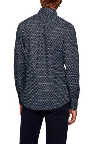 Hugo Boss - Hugo Boss Pamuklu Slim Fit Uzun Kollu Erkek Gömlek 50447961 404 LACİVERT (1)