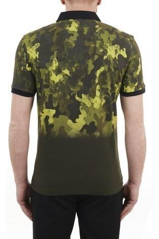 Hugo Boss - Hugo Boss Regular Fit % 100 Pamuk Düğmeli T Shirt Erkek Polo 50436434 346 HAKİ (1)